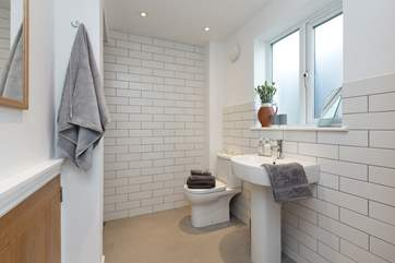 There is a lovely large shower-room on the ground floor.