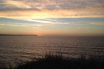 Sunsets here are stunning. This is looking out towards Hartland Point.