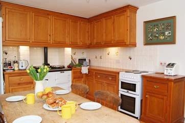 As well as the cooker there is an Aga, for extra warmth as well of course for cooking.