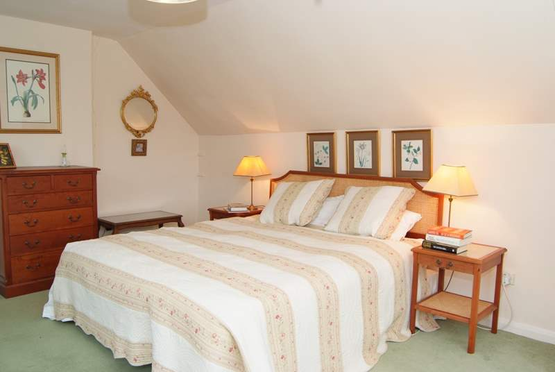 The bedrooms have characterful sloping ceilings but there is plenty of space and headroom in them all. Photos of the other two bedrooms will be taken as soon as the new furniture is in place.