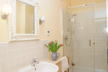 This is the ground floor shower room. A bright and contemporary room.