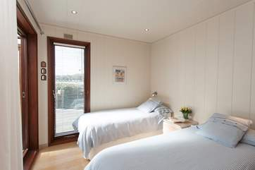 Whether you are bringing children, friends or family, the twin bedroom is an ideal, well decorated second bedroom