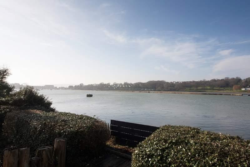 Spectacular views across Mill pond