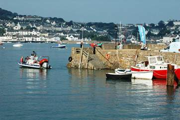 Take the seasonal passenger ferry from the quay across to Appledore.
