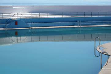 The outdoor Jubilee swimming pool, just three miles away in Penzance.