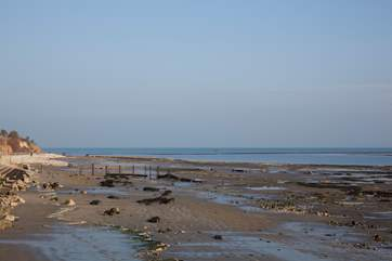 Bembridge beach is a great location for days on the beach, romantic walks in the evening and rock pooling with the children