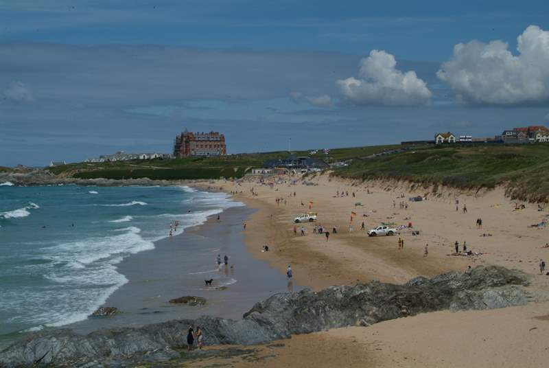 The world famous Fistral Beach at Newquay is a surfers' paradise.