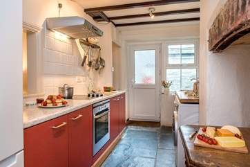 The kitchen is very well-equipped and has all you need to cook up some holiday treats.