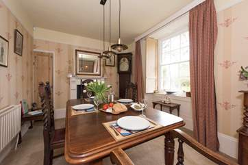 The dining-area is in the sitting-room.