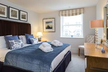 Bedroom 2 also offers a super-king size bed which can also be arranged as twin beds for extra flexibility.
