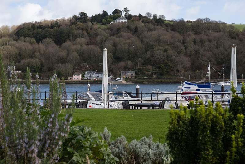Looking out from the Dart Marina complex across to Kingswear.