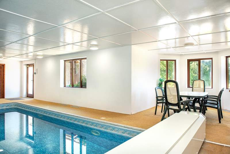 What a luxury - an indoor pool!