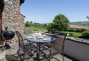 The views from this cottage are truly stunning, a great place for a barbecue.