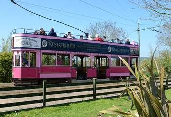 This little tram leaves Colyton station and runs down beside the river Axe to Seaton and the Jurassic Visitor Centre.