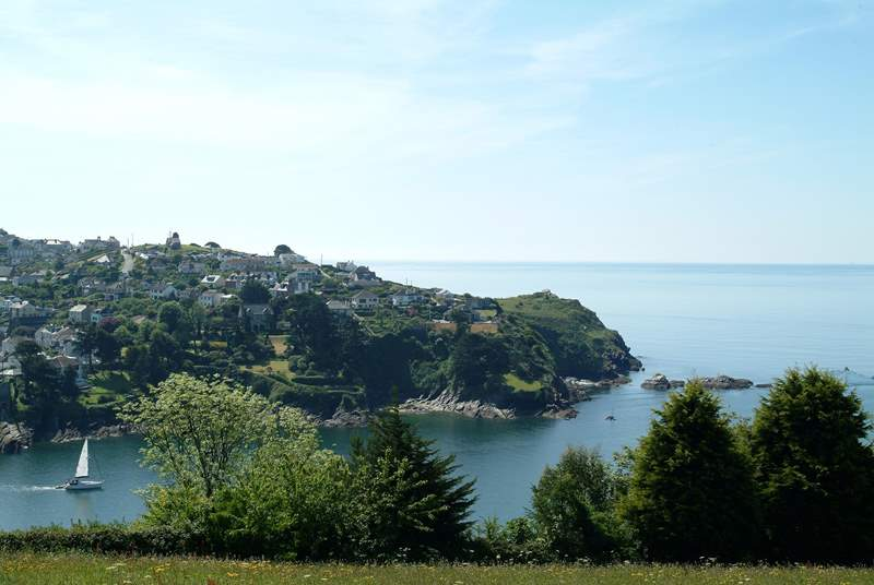 Looking across the estuary towards Polruan from Fowey.