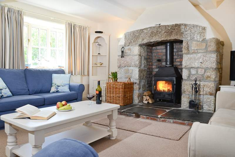 Relax in front of a roaring wood-burner.