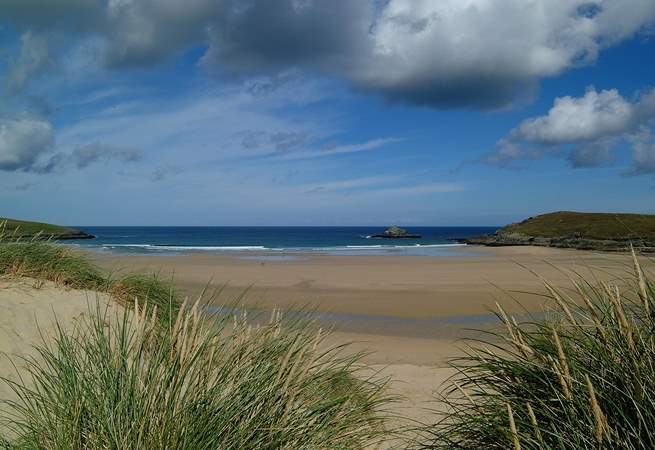 Crantock beach, half a mile from The Malt House.