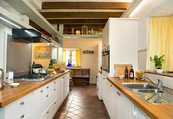 The wonderful kitchen is well planned for loads of cooking!