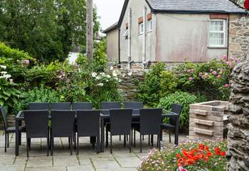 You have plenty of seating outside too!