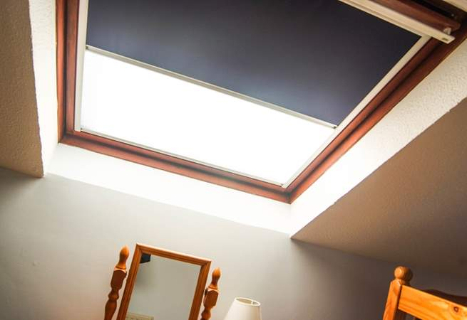 The Velux windows have blackout blinds.