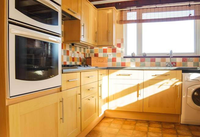 The kitchen is fully fitted and very well-equipped.