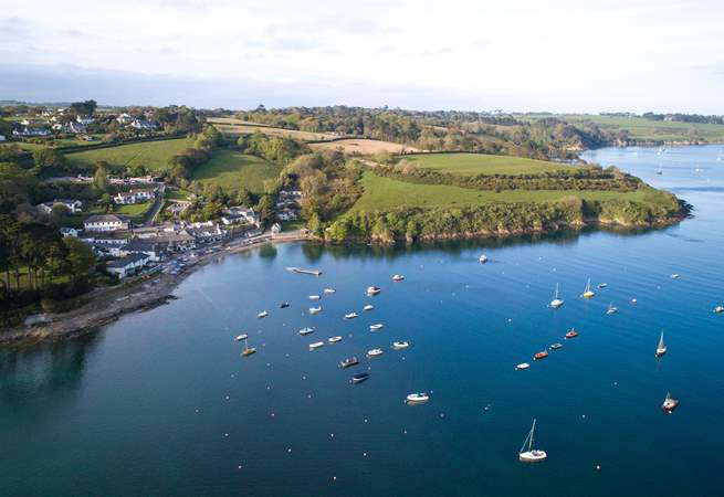 One of the pretty inlets near by on The Helford.