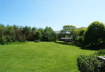 Looking back towards The Old Chapel from the end of the garden.