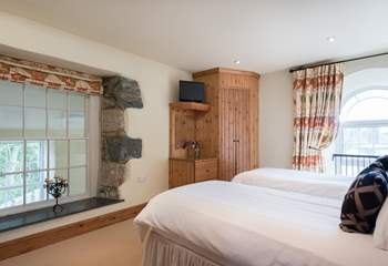 Both bedrooms are spacious and have plenty of storage.