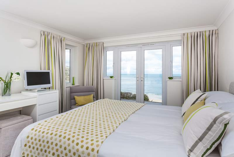 The master bedroom has sea views too, fancy waking up to this?