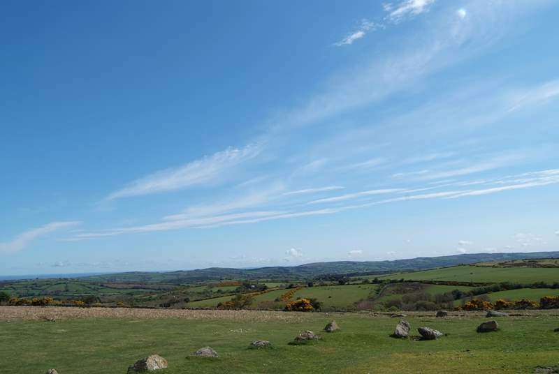 The delights of Dartmoor are a short drive away.