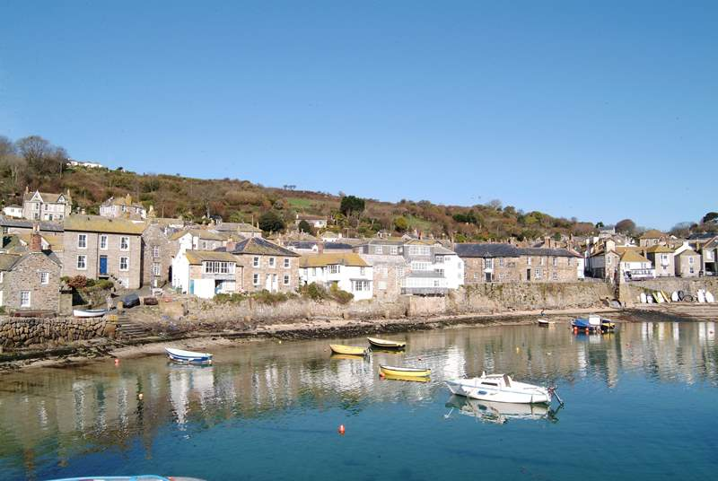 Mousehole Harbour is just four miles away.