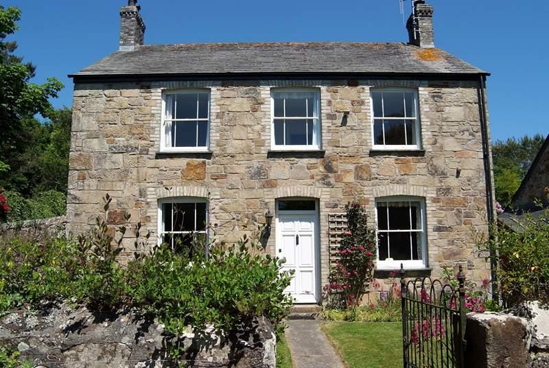 The pretty stone farmhouse.