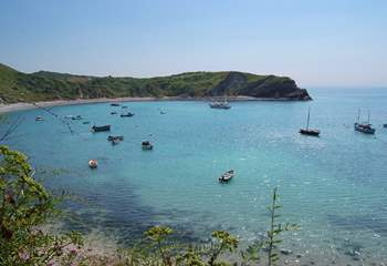 This is the natural harbour at Lulworth Cove - a great day out.