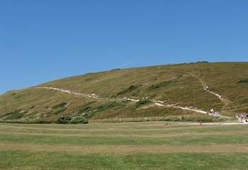 For the fit - the stretch of coastal path that leads up to the spectacular Durdle Door.