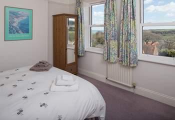 The master bedroom has wonderful far reaching views. (Bedroom 1)
