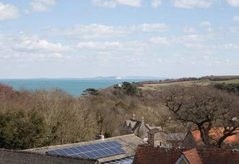 View from the master bedroom, with the Isle of Wight in the distance.