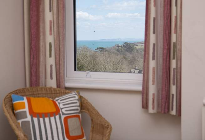 You can see the Isle of Wight on a clear day, this is the view from bedroom 4.