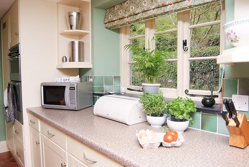 Plenty of space to prepare a family meal.