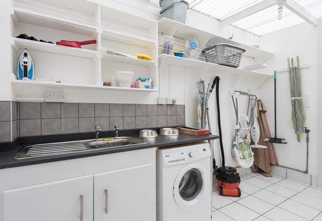 The utility-room in this well-equipped house.