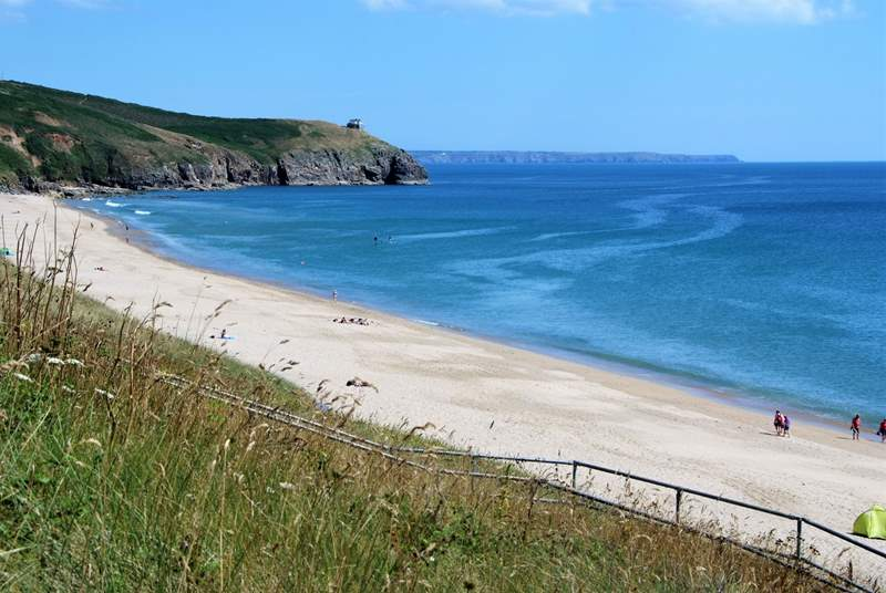 The gorgeous beach at Praa Sands just a few miles drive away.