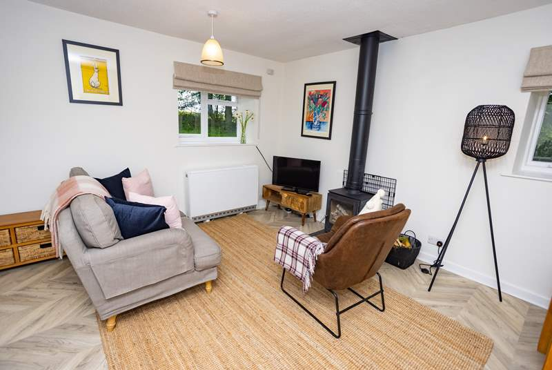 Get cosy and enjoy some time together in the living area.