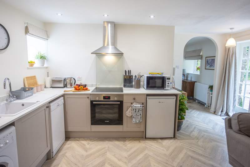 Walk into the well-equipped kitchen, perfect for cooking up your favourite holiday meal.