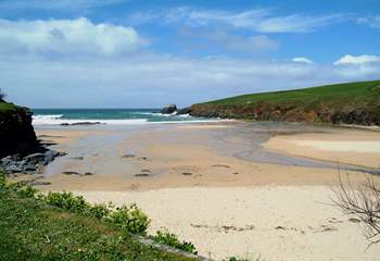 The lovely beach at Trevone is just within walking distance of the house.