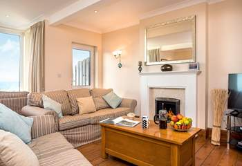 After a day exploring the delights of the North Cornwall coast, you'll enjoy relaxing on the comfy sofas.