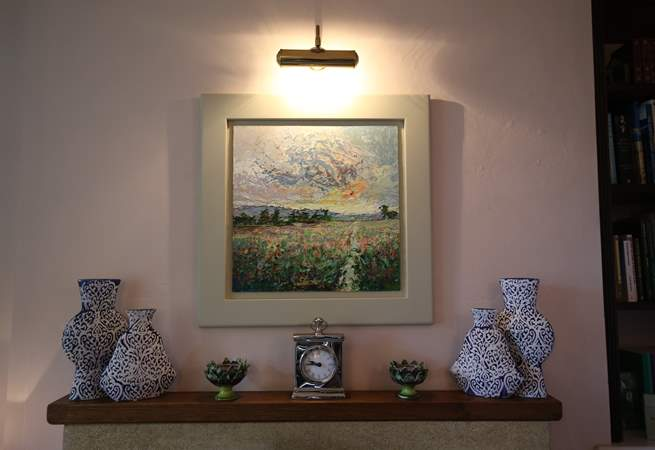 Enjoy the work of local artists and potters that has its place in this special property