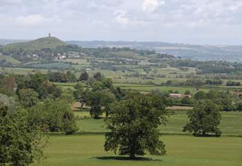 A view of Glastonbury Tor.  The south Somerset countryside is beautifully unspoilt.