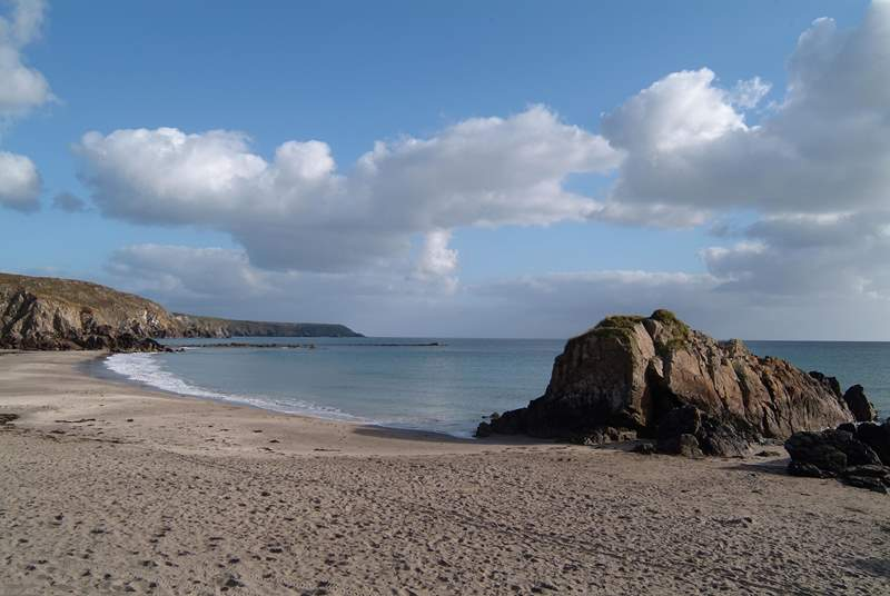 The family-friendly beach at Kennack Sands, not far from Cadgwith Cove.