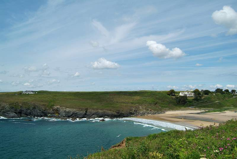 Poldhu Cove, just outside Mullion, is popular with surfers.