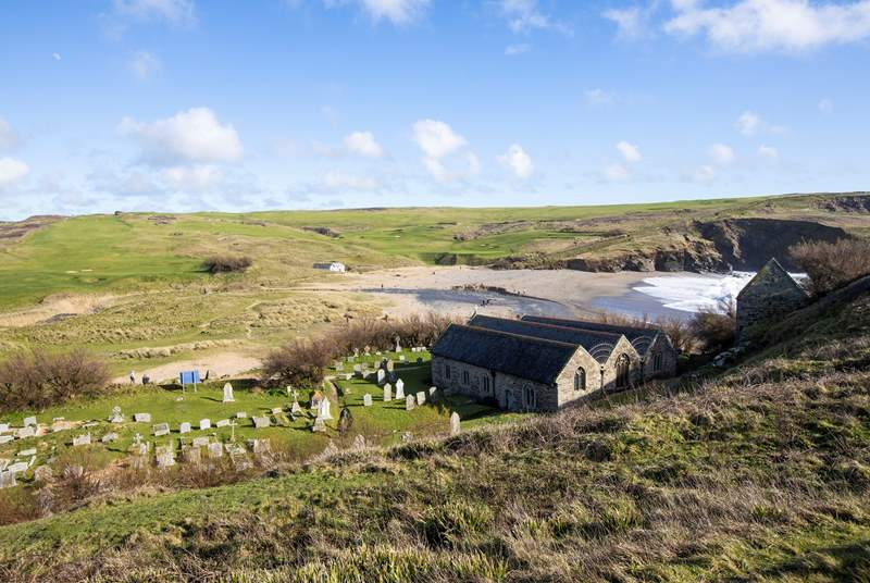 Church Cove is near by, with lots of stunning coastal walks to be enjoyed - perhaps walk to Poldhu for one of their fabulous hot chocolates.