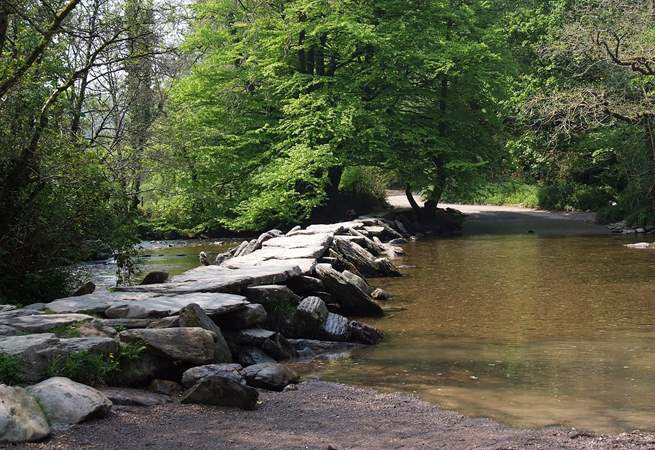 The famous Tarr Steps are an iconic Exmoor landmark.